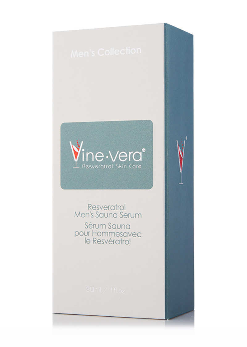 Resveratrol Men's Sauna Serum in its case