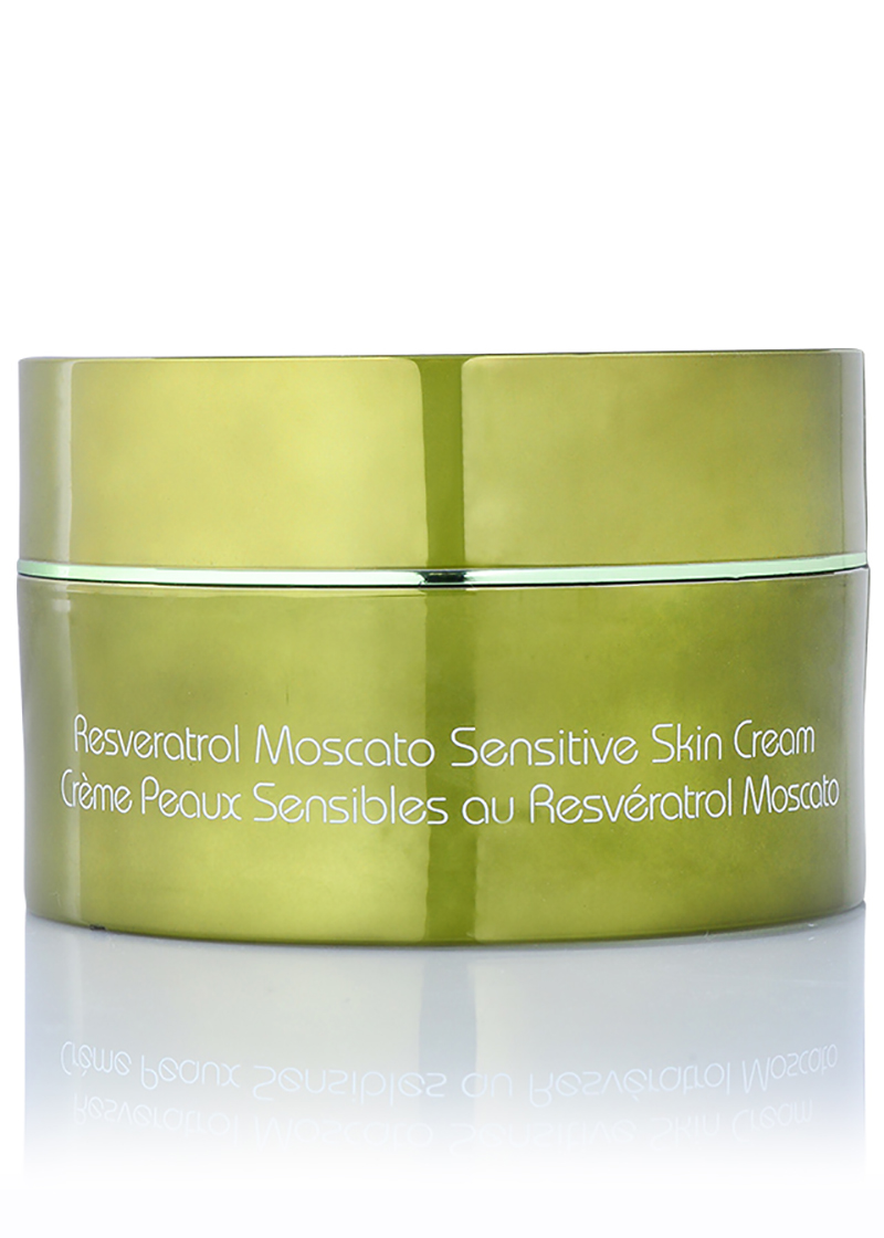 Back view of Resveratrol Moscato Sensitive Skin Cream
