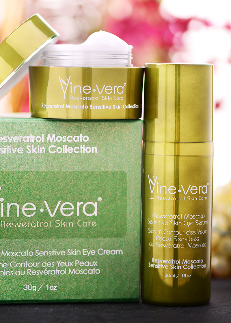 Moscato Sensitive Skin Eye collection with a background
