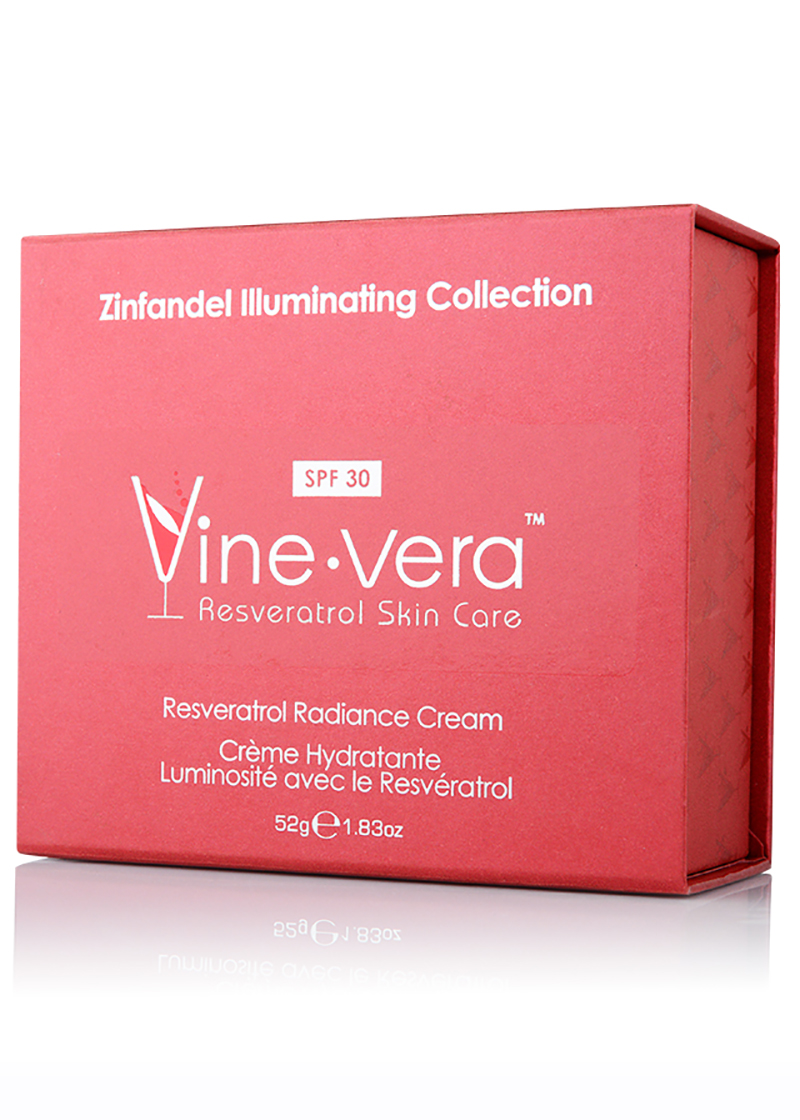 Resveratrol Radiance Cream SPF 30 in its case