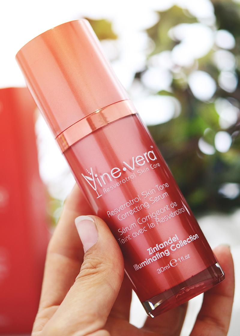 Resveratrol Skin Tone Correcting Serum with a background