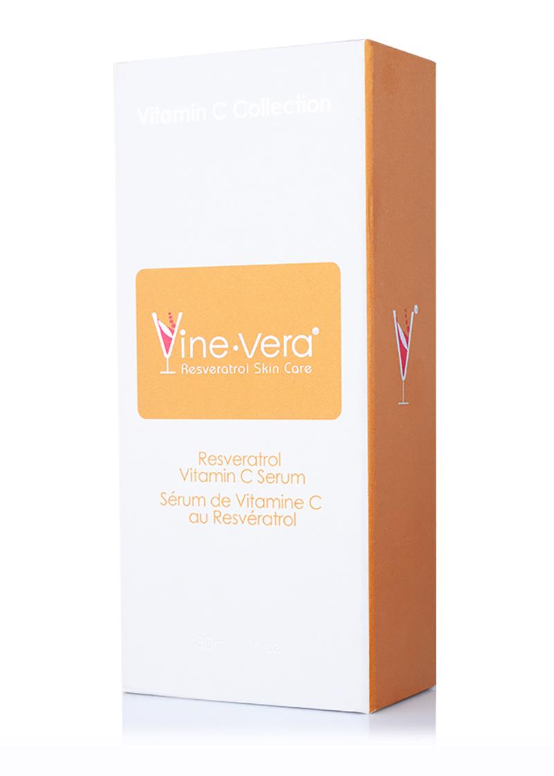 Vine Vera Resveratrol Vitamin C Serum in it's case
